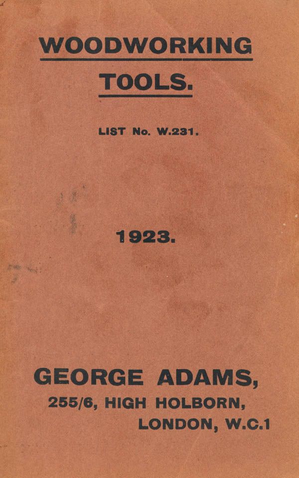 George Adams 1923 Catalog Handplane Central