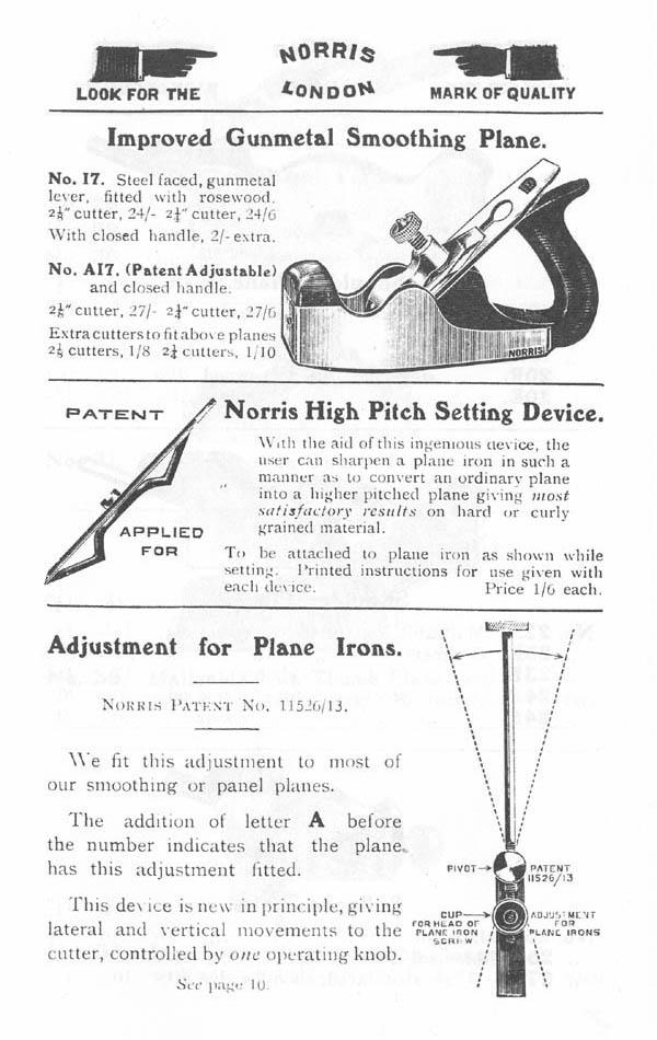 Norris 1914 Catalog Handplane Central